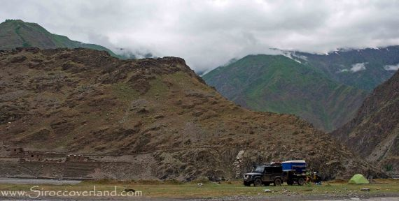 Camping on the Pamir Highway, Tajikistan