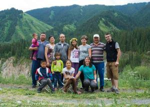The very friendly Kazak family at Kolsay Lakes