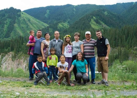 The very friendly Kazak family at Kolsay Lakes
