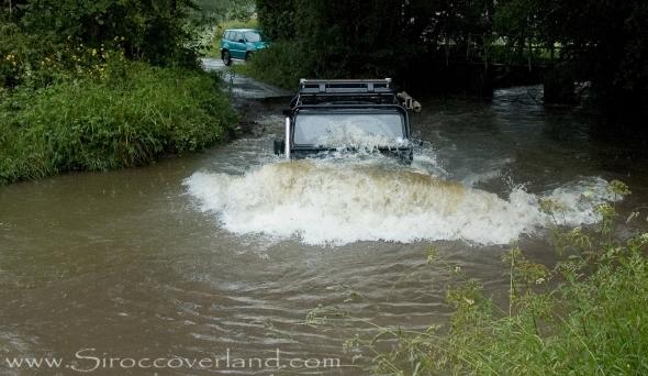 Crossing deep water in Shropshire