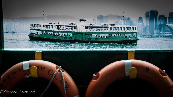 Star Ferry Passing - Hong Kong
