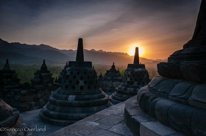 The Temple, Borodudur - Java, Indo