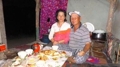Kyrgyz family meal