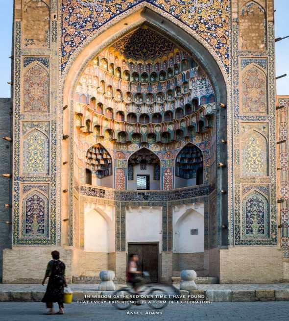 Bukhara, Uzbekistan, Mosque, Quote, Inspiration, Photography, Adventure, Quote, Ansel Adams,